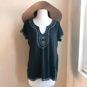 Lucky Brand Embroidered Short Sleeve Tee
